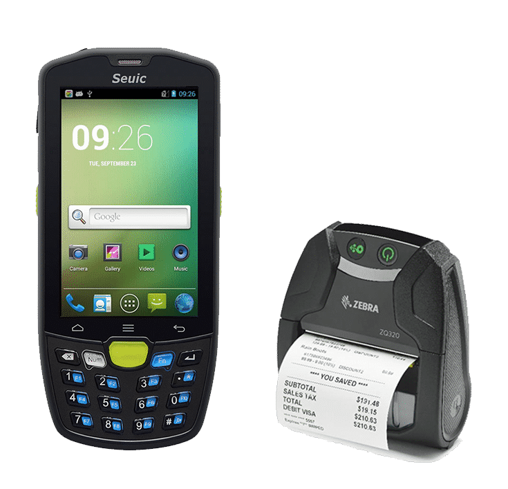 barcode scanner and mobile device rental